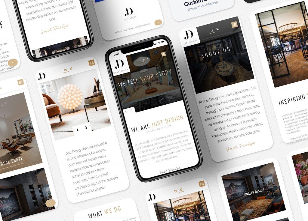 justdesign iphone screens mockup 2